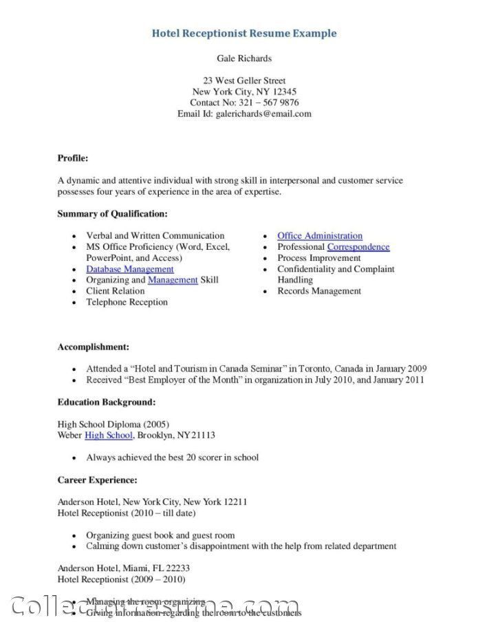Medical Office Receptionist Resume Samples Template Resume ...