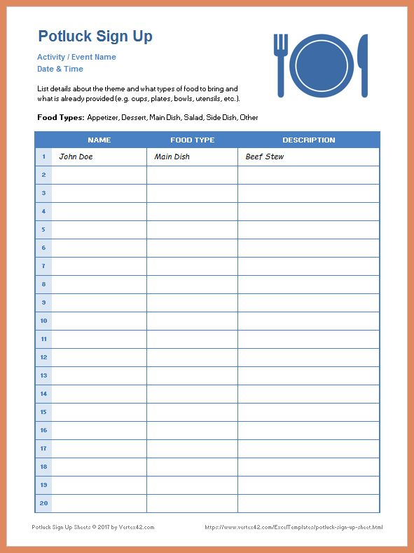 Potluck Signup Sheet Template.potluck Sign Up Sheet Template.png ...