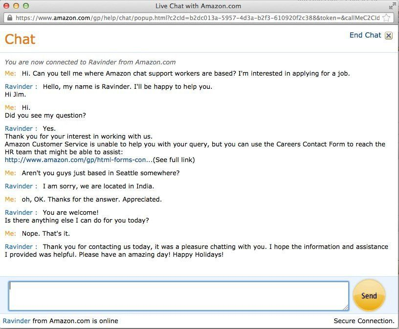 A Nightmarish Amazon Customer Support Chat Transcript - Business ...