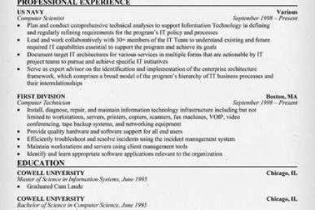 sample resume computer programmer