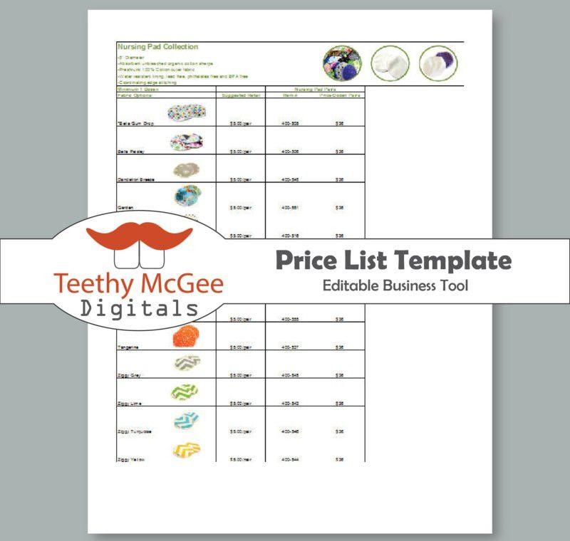 5 Free Price List Templates - Excel PDF Formats