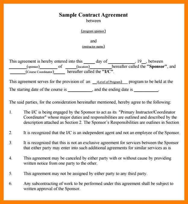 5+ simple contract agreement between two parties | joblettered