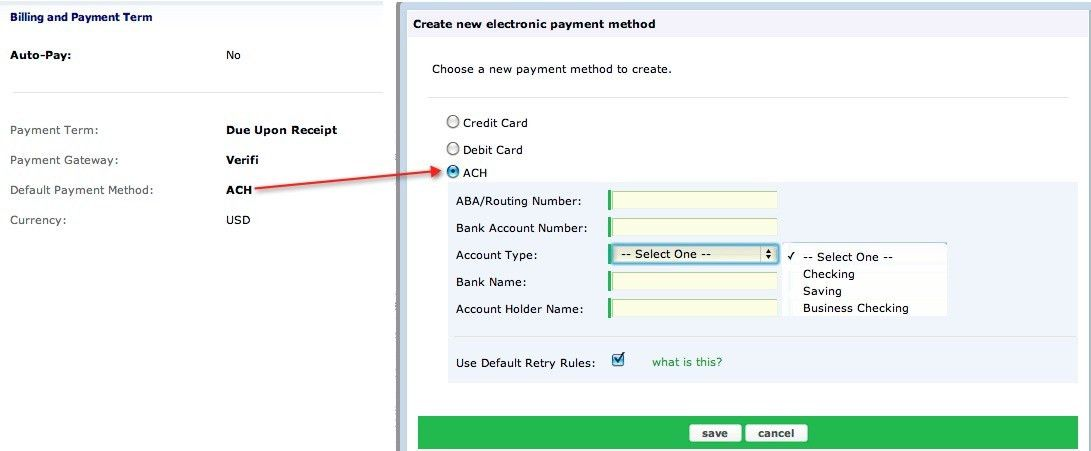How do I support direct debit (ACH) payments? - Zuora