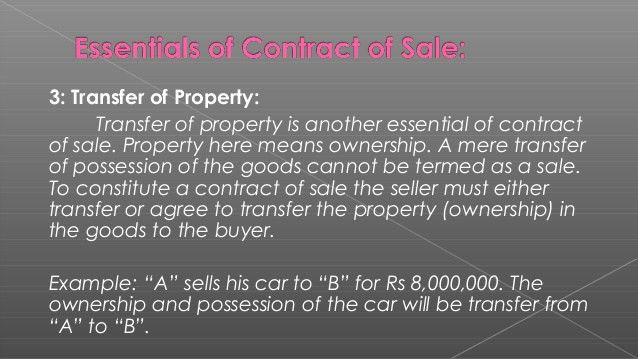 Contract of sale of goods
