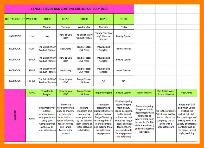7+ content calendar examples | janitor resume