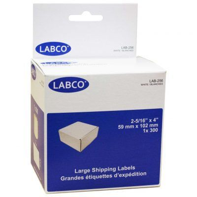 LAB-256 LARGE SHIPPING LABELS BY LABCO® – Labco Supplies