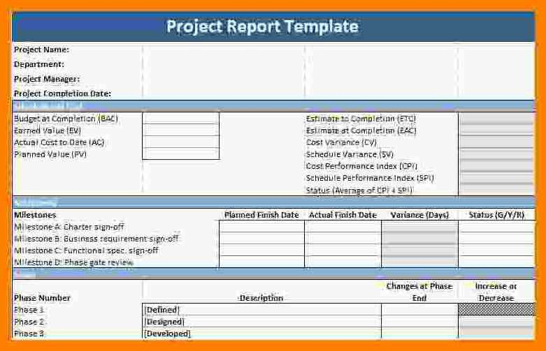 Project Report Template. Project Close Report Project Closure ...