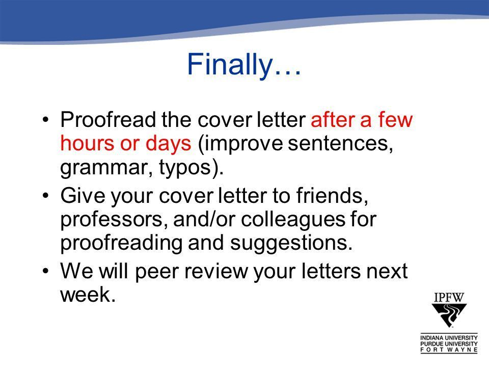 The Cover Letter From the Purdue OWL Worth Weller – ENG W ppt download