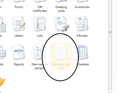 Download How To Find The Resume Template In Microsoft Word 2007 ...