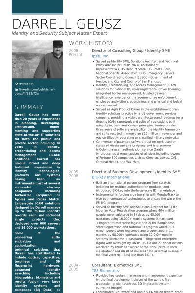 Consulting Resume samples - VisualCV resume samples database
