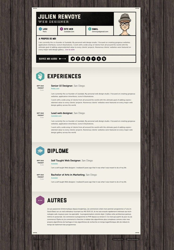 132 best CV Out of the Box images on Pinterest | Resume ideas ...