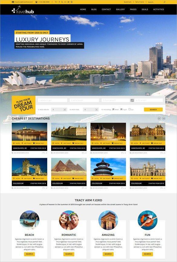 33+ Travel Tourism Blogger Themes & Templates | Free & Premium ...