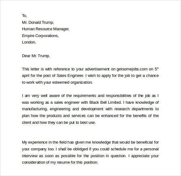 Sample Sales Cover Letter Template. Volunteer Services Manager ...