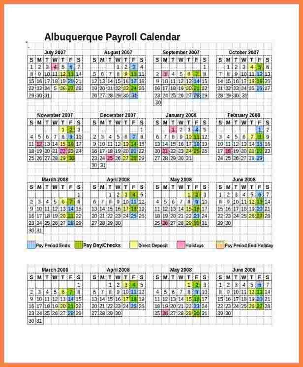 5+ payroll calendar templates | Securitas Paystub