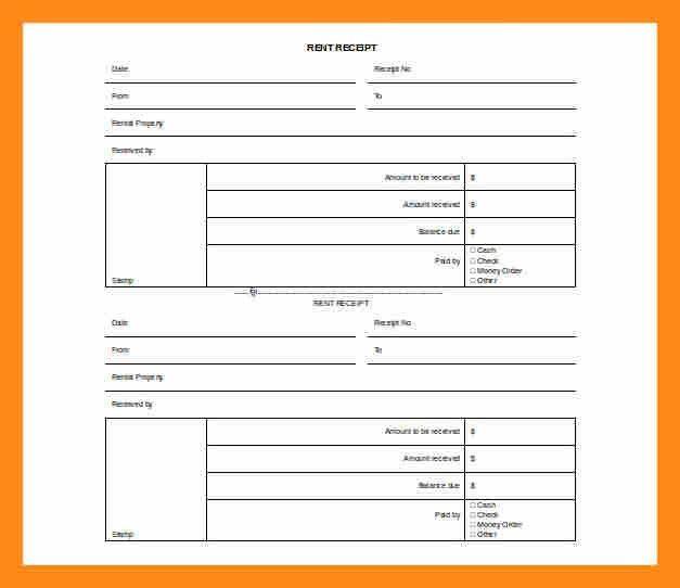 5+ renters receipt template | actor resumed