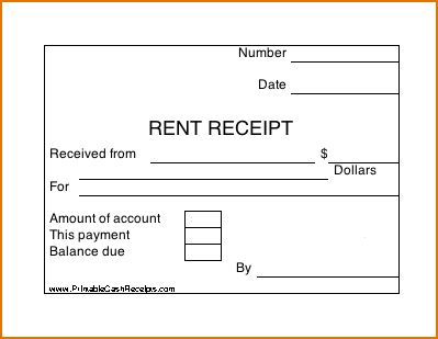 5 blank receipt form | Printable Receipt