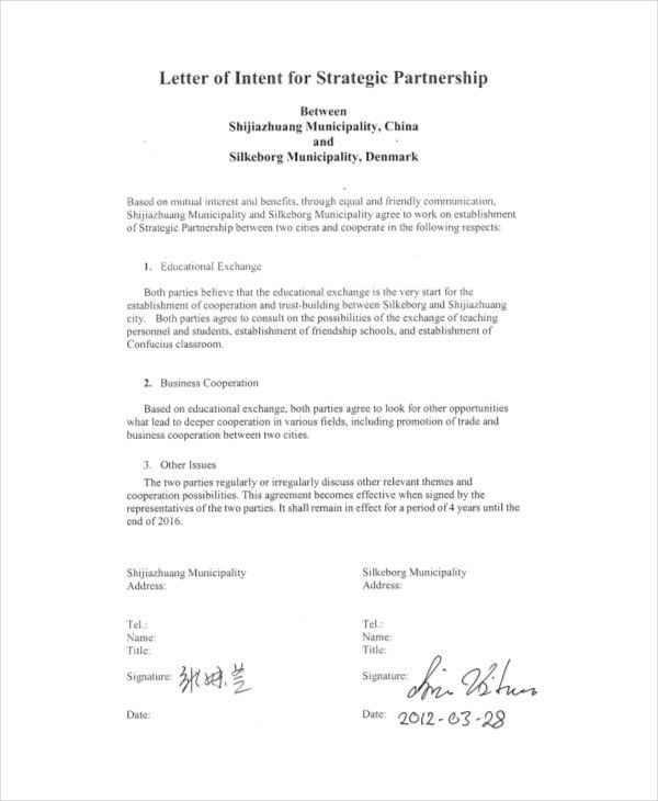 14+ Letter of intent Templates - Free Sample, Example, Format ...