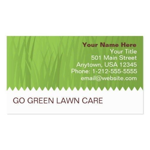 Lawn care business card Business Card Templates - Page5 ...