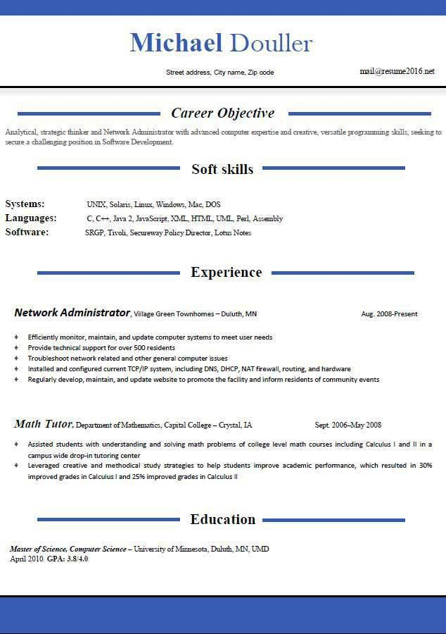 Resume Templates Download Word. Modern Resume Template & Cover ...