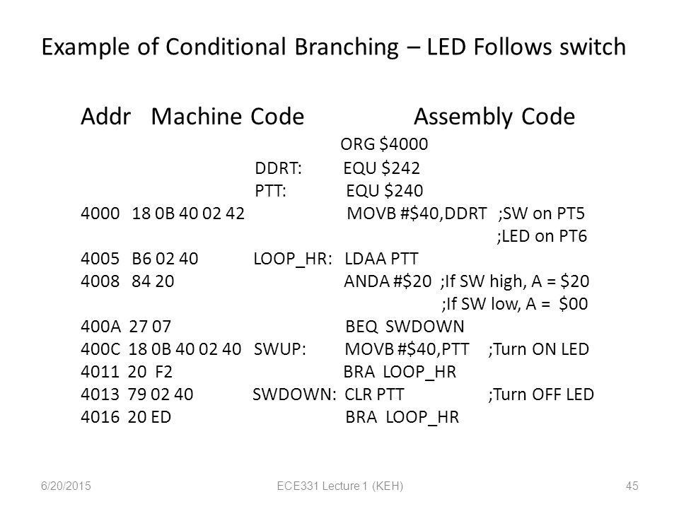 ECE331 Lecture 1 9S12Cxx Assembly Language - ppt download