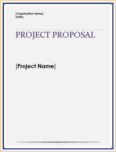 Simple project proposal template - Business Proposal Templated ...