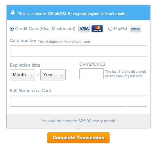 The Ultimate UX Design of: the Credit Card Payment Form - Designmodo