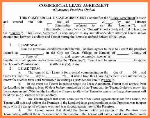 7+ commercial lease agreement form | Invoice Example 2017