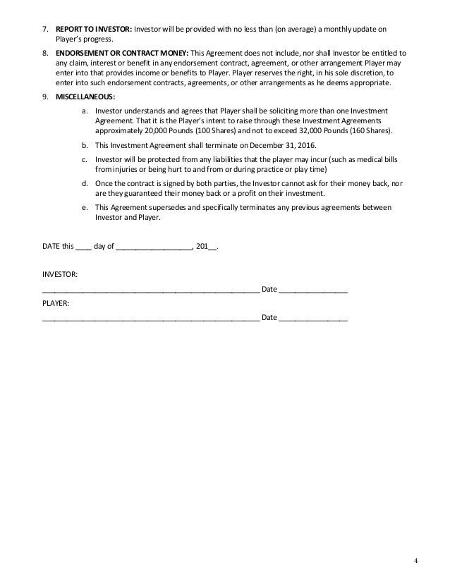 Adam Hedges Investment Packet 2016