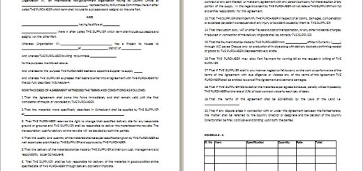 6 Best Formal Purchase Agreement Templates | Free Agreement Templates