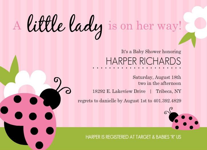 Baby Shower Invitations For Girls Templates - marialonghi.Com