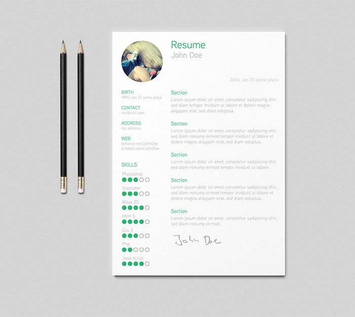 30 Free & Beautiful Resume Templates To Download - Hongkiat