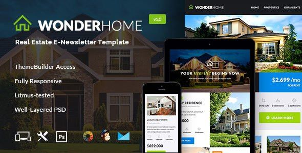 WonderHome – Real Estate Email Template + Builder Access Free ...