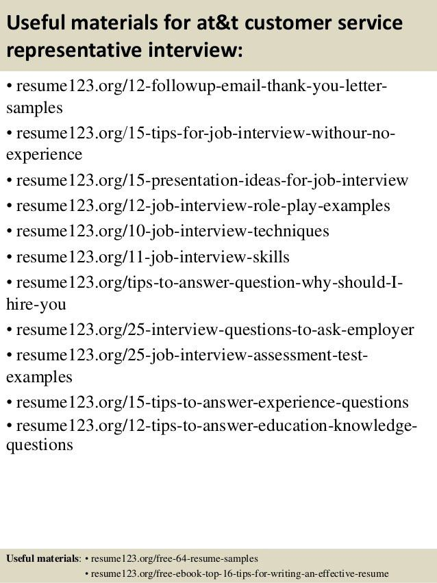 Top 8 at&t customer service representative resume samples
