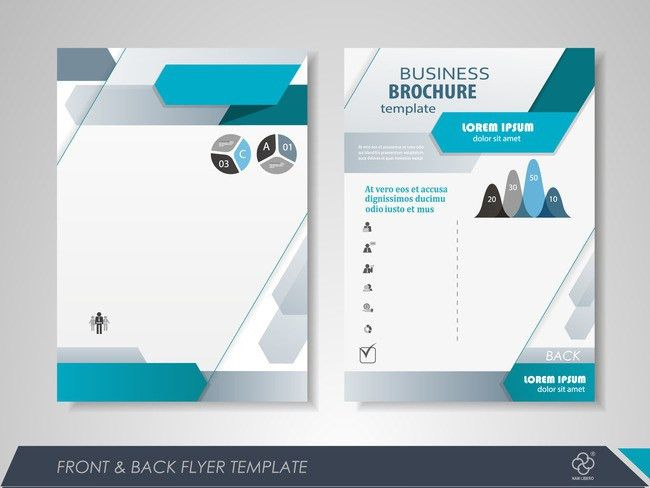 Fashion Business single page brochure design vector material ...