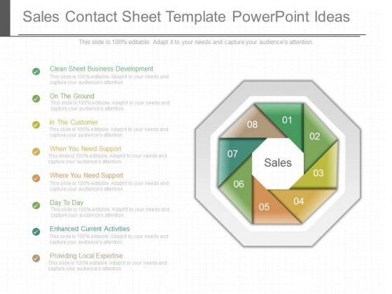 Sales Contact Sheet Template Powerpoint Ideas - PowerPoint Templates