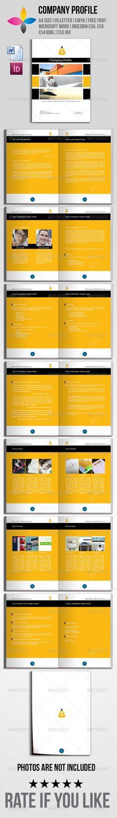 Modern Company Profile | Company profile, Print templates and ...