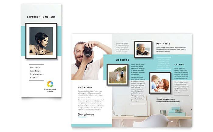 Photographer Brochure Template Design