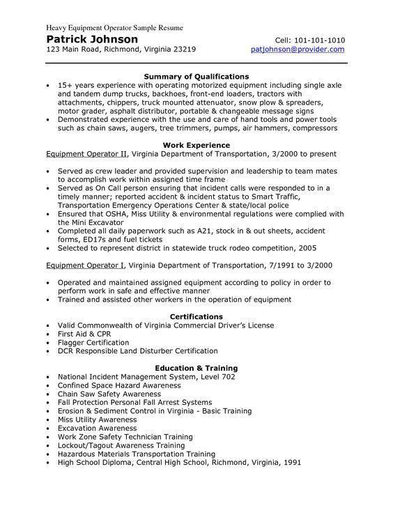 Maintenance Worker Resume Sample | Resume Ideas | Pinterest