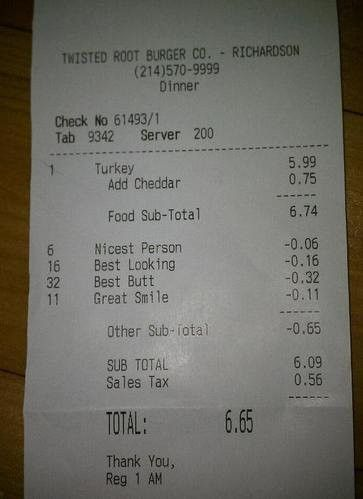 30 Awesome Messages On Bill Receipts That Will Totally Make Your Day