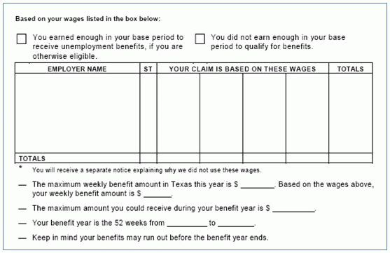 Learning the Result of Your Application for Benefits — TWC