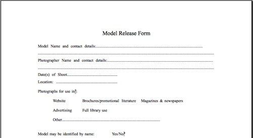 Model Release Form Template | peerpex