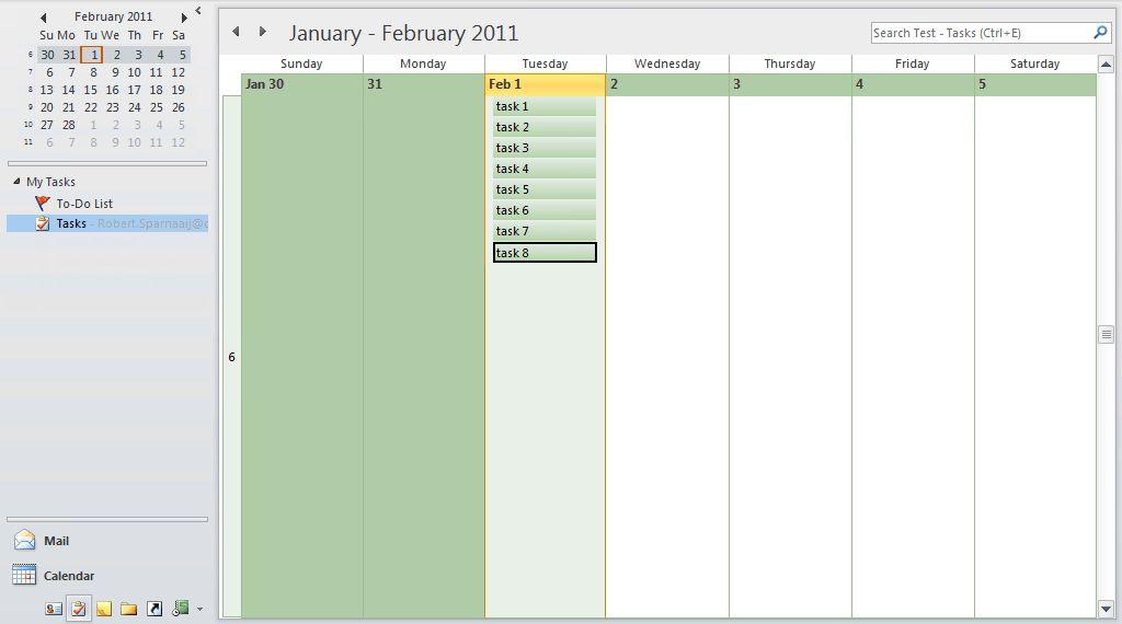 Daily Task List Planner - MSOutlook.info