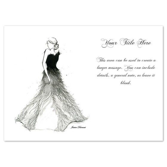 Fade to White Dress, Invitations & Cards on Pingg.com