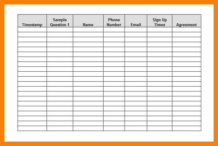 4+ sign in sheet template excel | attendance sheet