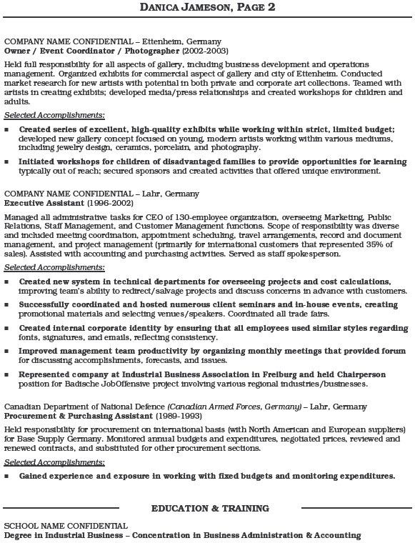 Administrative Assistant Resume Example Sample With Regard To 17 ...