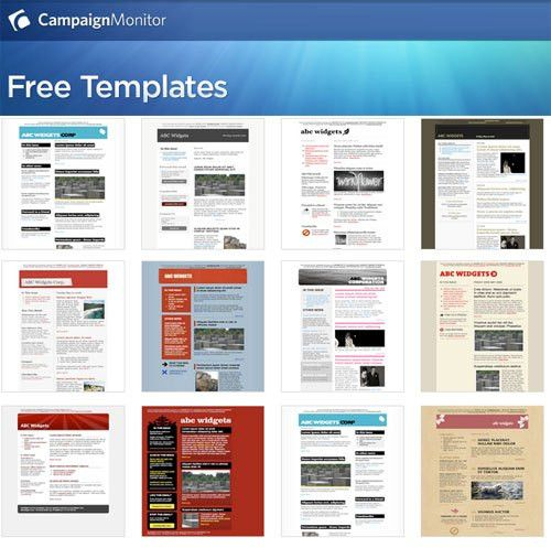 30+ Free Email Templates From CampaignMonitor.Com ...
