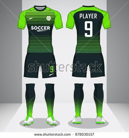 Set Soccer Kit Football Jersey Template Stock Vector 668537779 ...