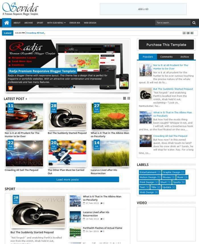 30+ Best, Cool & Simple Blogger Blogspot Themes & Templates | Web ...