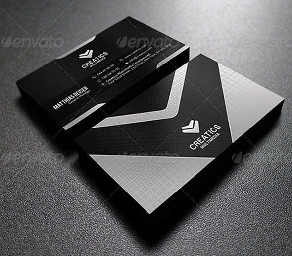 56 Visually Stunning PSD Business Card Templates | Web & Graphic ...
