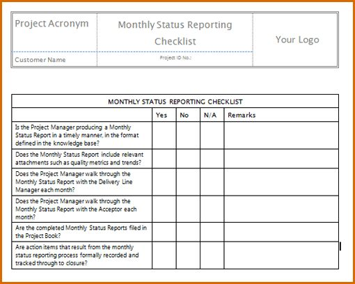 7+ monthly report template | Authorizationletters.org